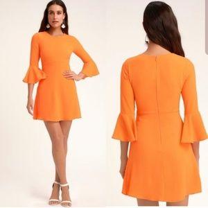 ONLY 2 LEFT! Lulu's Center of Attn. Orange Dress